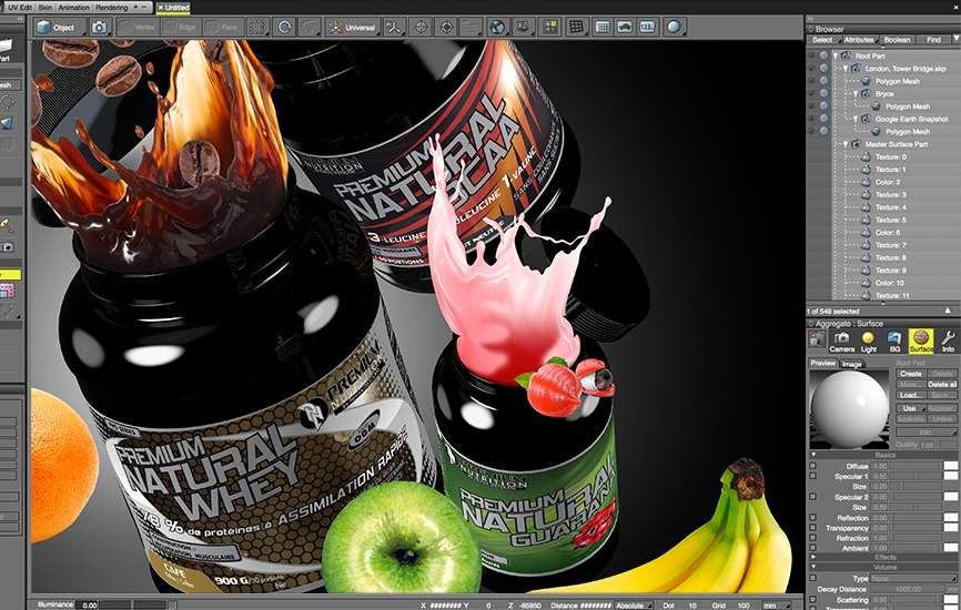 Marketing 3D, Composition 3D pour Premium Nutrition